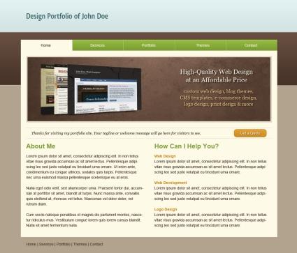 Tutorial para crear una web tipo Portfolio con Photoshop