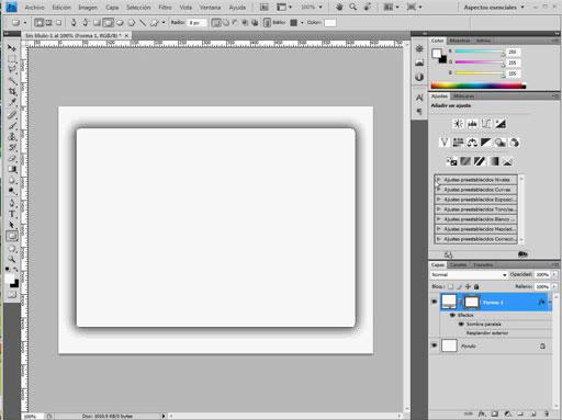 Truco: Poner resplandor exterior sobre fondo blanco en Photoshop