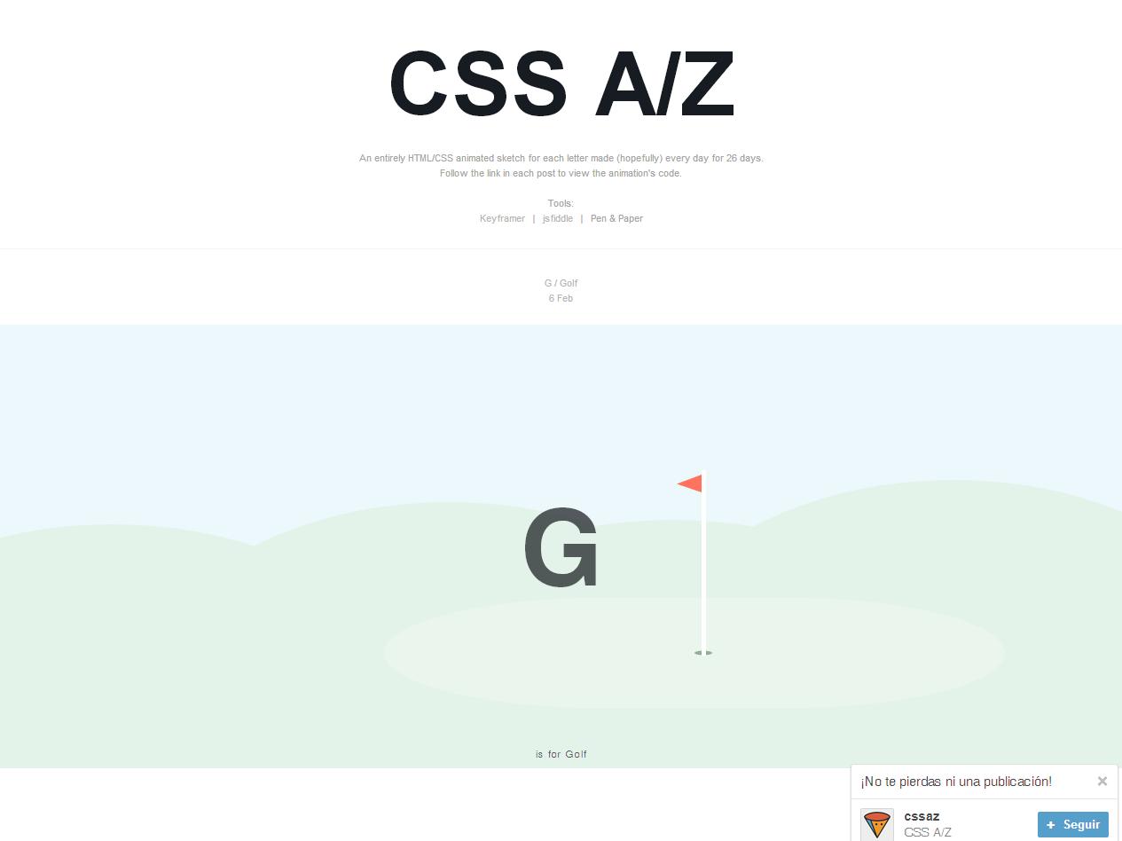 Alfabeto CSS animado | Inspiración
